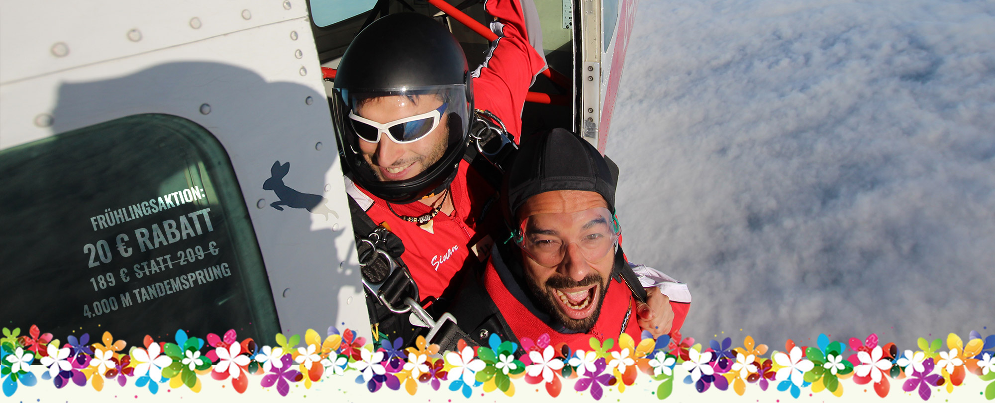 Your tandem jump, now from 159 € - Feel your life I TAKE OFF near Berlin
